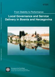 local governance and service delivery in Bosnia and ... - World Bank