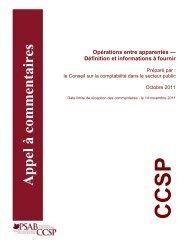 Opérations entre apparentés - Normes d'information financière et de ...