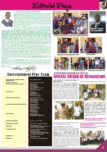 Events & Entertainment Plus Magazine