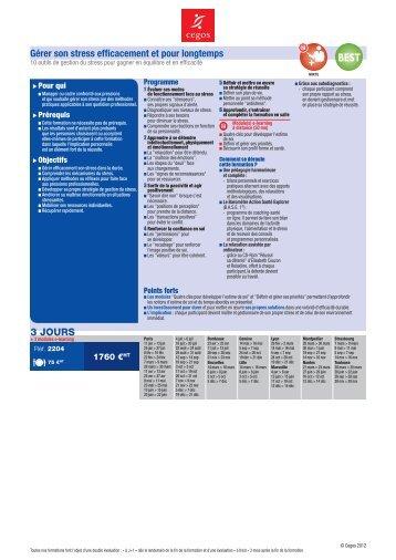 formation gestion du stress pdf