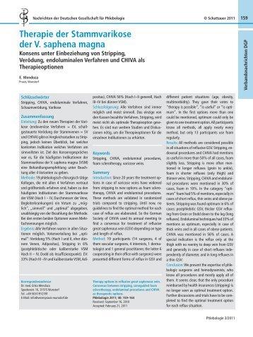 Therapie der Stammvarikose der V. saphena magna