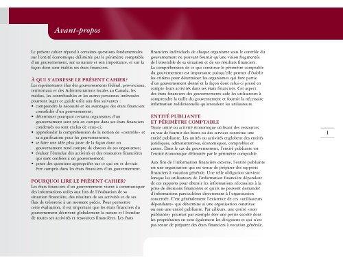 20 Questions sur le périmètre comptable du gouvernement