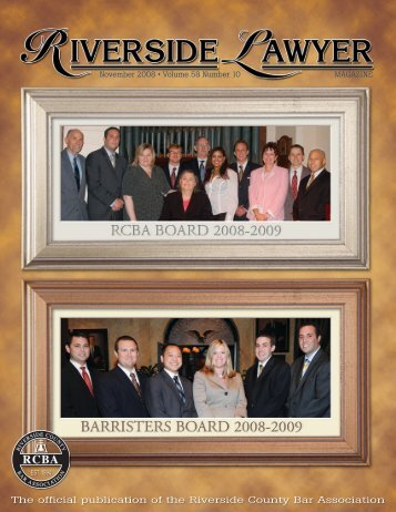 November 2008 - Riverside Lawyer Magazine - Riverside County ...