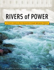 A Citizen's Guide to River Restoration through Hydropower Reform