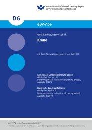 GUV-V D6 - Bayerische Landesunfallkasse