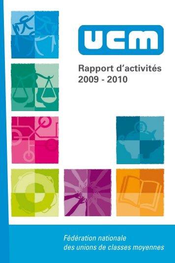 Rapport d'activités 2009 - 2010 - UCM