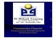 Communication Financière - Tustex