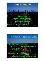 Star-formation study and VERA Hiroshi Imai Star-formation study ...