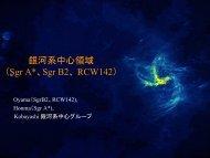 銀河系中心領域 (Sgr A*、Sgr B2、 RCW142) - VERA