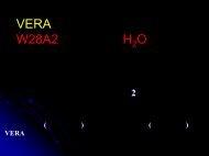 VERAによるW28A2の内部固有運動解析 - 国立天文台