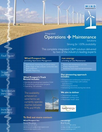 Operations +Maintenance - Wind Prospect