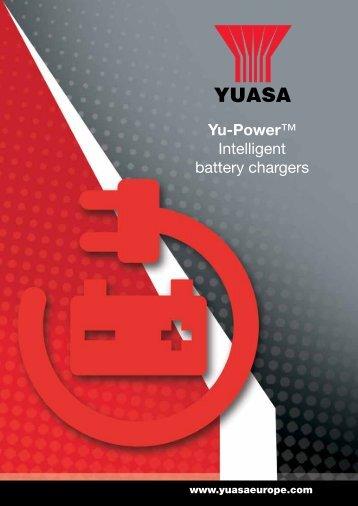 Yu-Power chargers product brochure - Yuasa