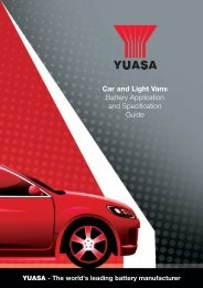YUASA - The world's leading battery manufacturer