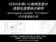 晩期型星周期光度関係プロジェクト進捗 - VERA - 国立天文台