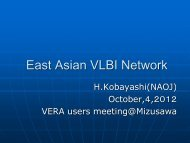 Discussion of future work of East Asian VLBI network - VERA