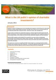 What is the UK public's opinion of charitable investments? - Eiris