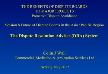The Dispute Resolution Adviser (DRA) - drbfconferences.org