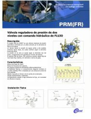 Válvula reguladora de presión de dos niveles con comando ...