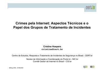 Crimes pela Internet: Aspectos Técnicos e o  Papel dos ... - CERT.br