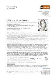 NEDA – der Ruf, die Stimme - Neues Theater München