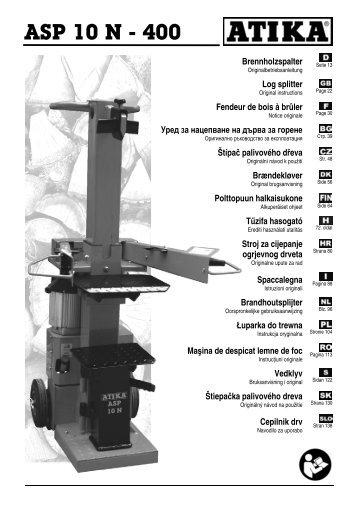 ASP 10 N - 400 Brennholzspalter - Atika