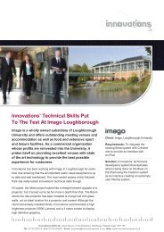 Innovations' Technical Skills Put To The Test At Imago Loughborough