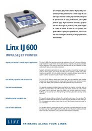 LINX IJ600 PRINTER DRIVER FREE