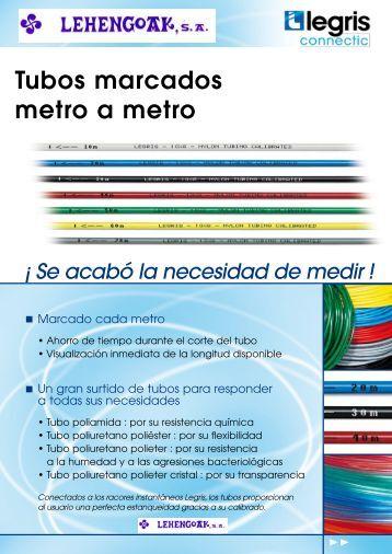 Tubos marcados metro a metro - Lehengoak