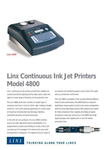 Videojet Dataflex 194 174 Plus Industrial Ink Jet Printers