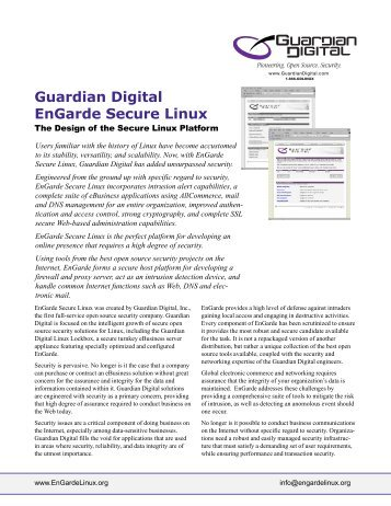 Guardian Digital EnGarde Secure Linux - FTP server