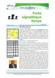 Fiche signalétique Kenya - ILE-DE-FRANCE INTERNATIONAL