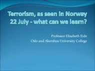Terrorism, as for instance seen in Norway