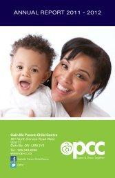 ANNUAL REPORT 2011 - 2012 - Oakville Parent Child Centre