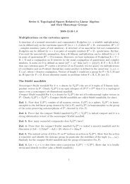 Series 6. Topological Spaces Related to Linear Algebra and their ...
