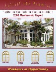 Annual Report - California Manufactured Housing Institute