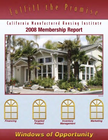 Annual Report - California Manufactured Housing Institute