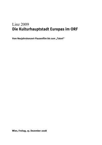 Linz 2009 Die Kulturhauptstadt Europas im ORF - ORF.at