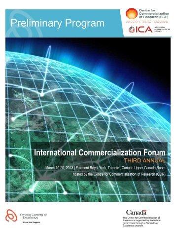 Preliminary Program - International Commercialization Alliance