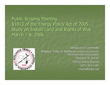 Affiliated Tribes of Northwest Indians Economic Development ...