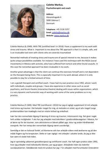 Colette Markus (f - Trauma Prevention