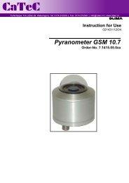 Pyranometer GSM 10.7 Order-No. 7.1415.05.0xx