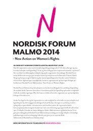 NORDISK FORUM MALMØ 2014 - Kvinderådet