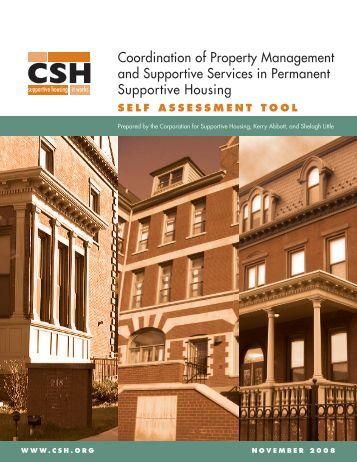 Coordination of Property Management and Supportive Services in ...