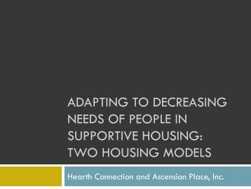 How does it work? - Corporation for Supportive Housing