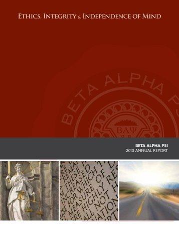 Annual Report 2010 - Beta Alpha Psi