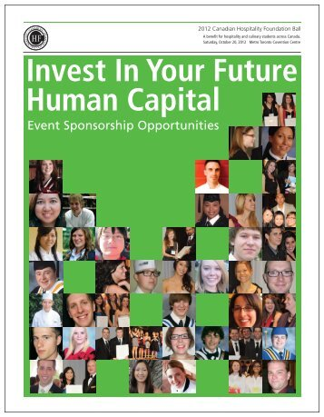 Invest In Your Future Human Capital - the Canadian Hospitality ...
