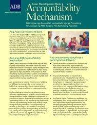 accountability mechanism - ADB Compliance Review Panel - Asian ...
