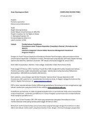Pemohon-pemohon (Nama-nama dirahasiakan) - ADB Compliance ...