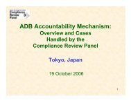 ADB Accountability Mechanism - Overview and Cases Handled by