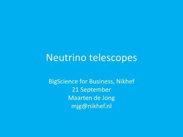 Neutrino telescopes - Big Science